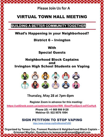 Virtual Town Hall Meeting - May 28 2020