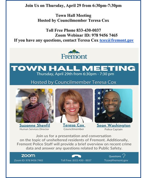 Flyer - COF Town Hall Mtg - Homeless & C