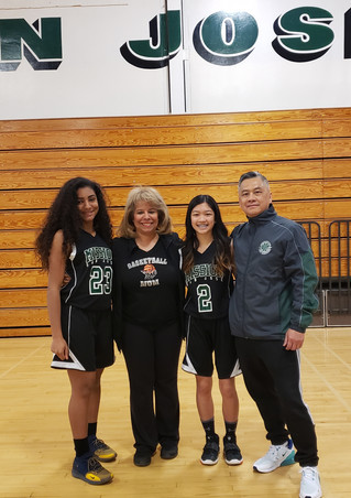 Mission San Jose Coach Tran and players.