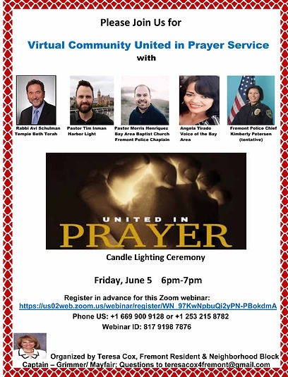 Virtual Community United in Prayer Vigil