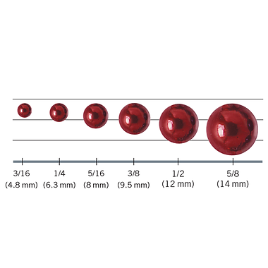 Ball chai sizes for ball chain curtains