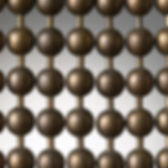 Medieval brown ball chain cutain sample picture