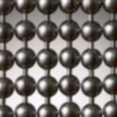 Gun metal ball chain curtins.