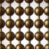 Antique brown ball chain cutain sample picture