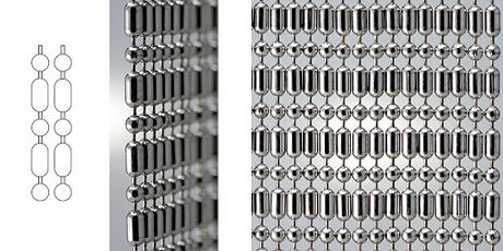 Ball bar ball chain curtain example