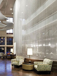 ShimmerScreen bead chain partition in at the Toronto Hilton