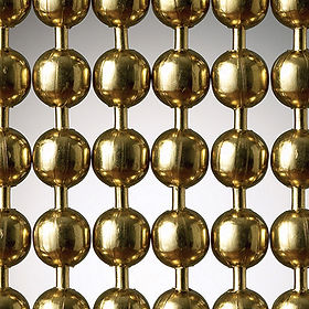Brass plated steel ball chain cutain sample picture