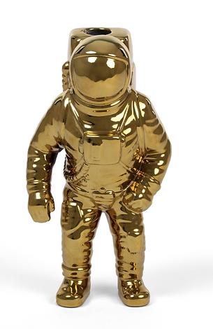 Gold Astro Man Vase