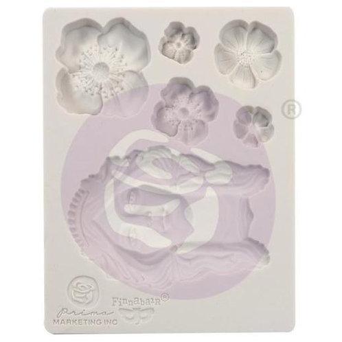 "Prima Finnabair 3½"" x 4½"" Silicone Mould - Flower Queen"