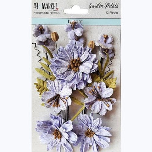 49 and Market - Flower Embellishments - Garden Petals - Twilight