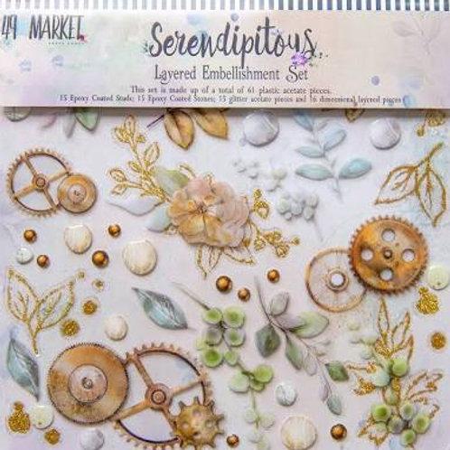 49 & Market - Serendipitous Layered Embellishment Set