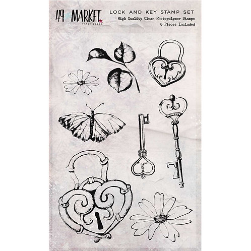 Sweet Reflections Lock and Key Stamp Set (4×6)