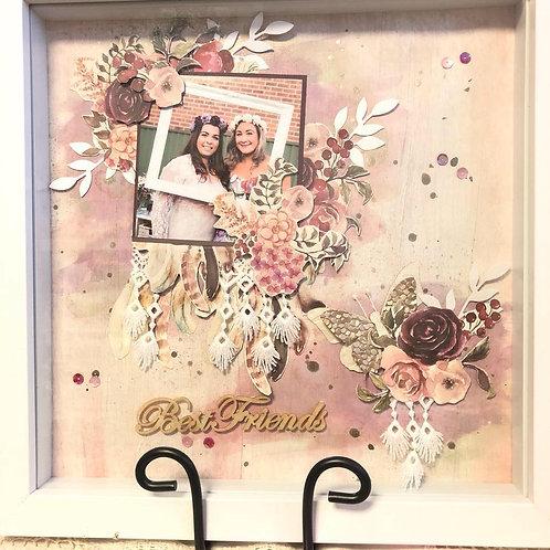 Framed scrapbook page