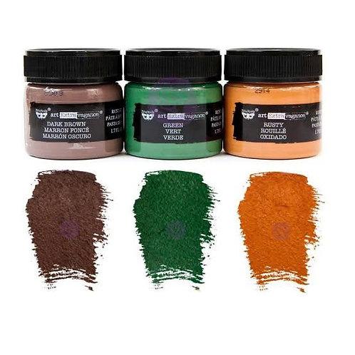 Prima Finnabair Art Extravagence Rust Effect Paste 50ml Jars 3 Pack 3 Colours