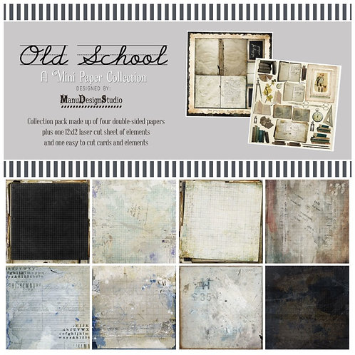 49 and market - old school - 12 x 12 mini paper collection pack