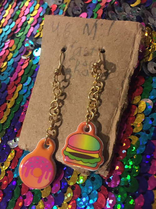 Fast Food Chain Earrings