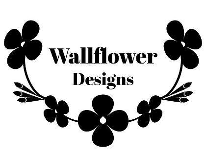 Wallflower Designs Logo and Watermark -