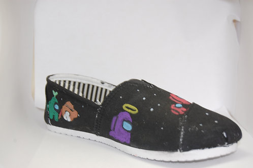 Pair of customized Among Us shoes