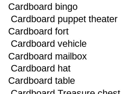 Digital Cardboard Craft Book