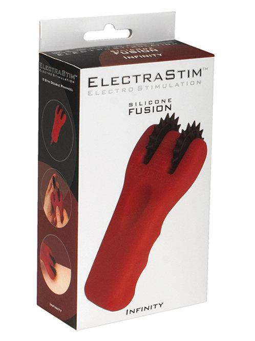 ElectraStim Silicone Fusion Infinity Pinwheel - Red/Black