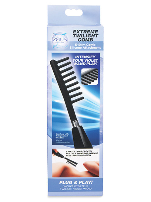Extreme Twilight Comb Silicone E Stim Attachment - Black