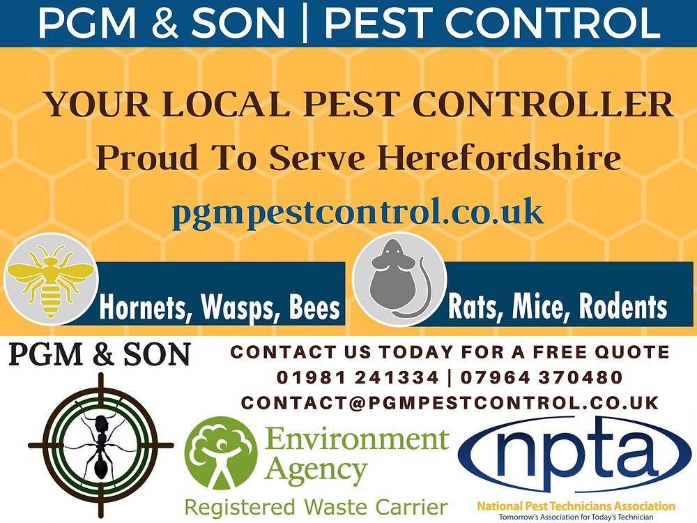We are leading Herefordshire in Positive Pest Control Solutions. Contact us today for a free quote