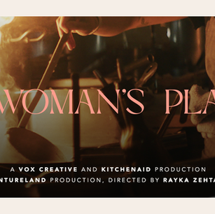 """""""A Woman's Place"""" Banner"""