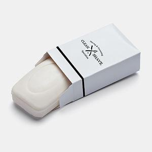 Black stripe shaving soap