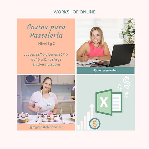Workshop Online Costos para Pastelería