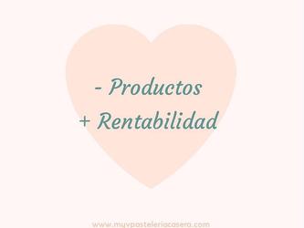 Menos productos más rentabilidad