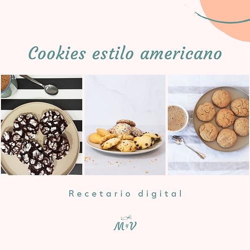 Recetario cookies estilo americano