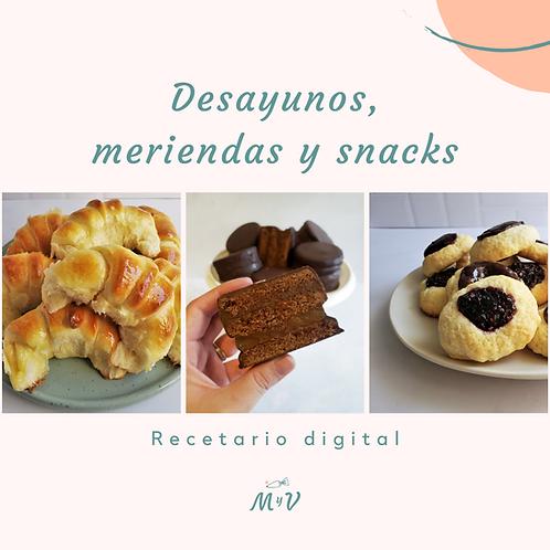 Recetario Desayunos, meriendas y snacks