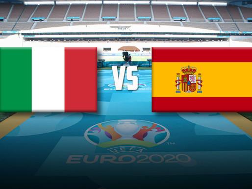 EURO 2020 pusfinālu pirmā spēle - Itālija pret Spāniju