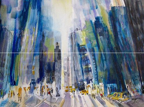 NYC van Gogh Style 11x17in Print