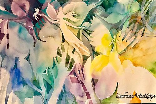 Fairies in Bloom 8 x 11 Print