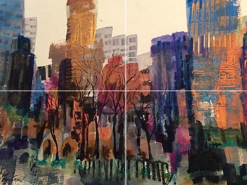City Glitter 11x17in Print