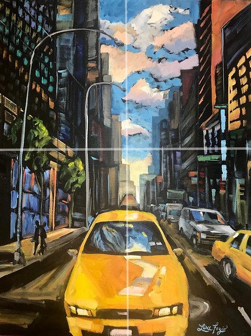 NYC Taxi Love Affair 11x17in Print
