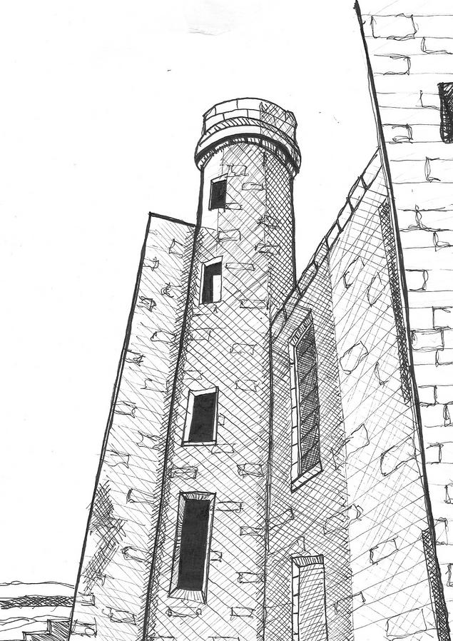 Ink Sketch   Aberdeenshire, Scotland   FEB 2020