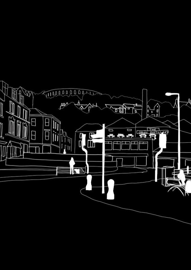 Digital Sketch   Oban, Scotland - SEP 2020