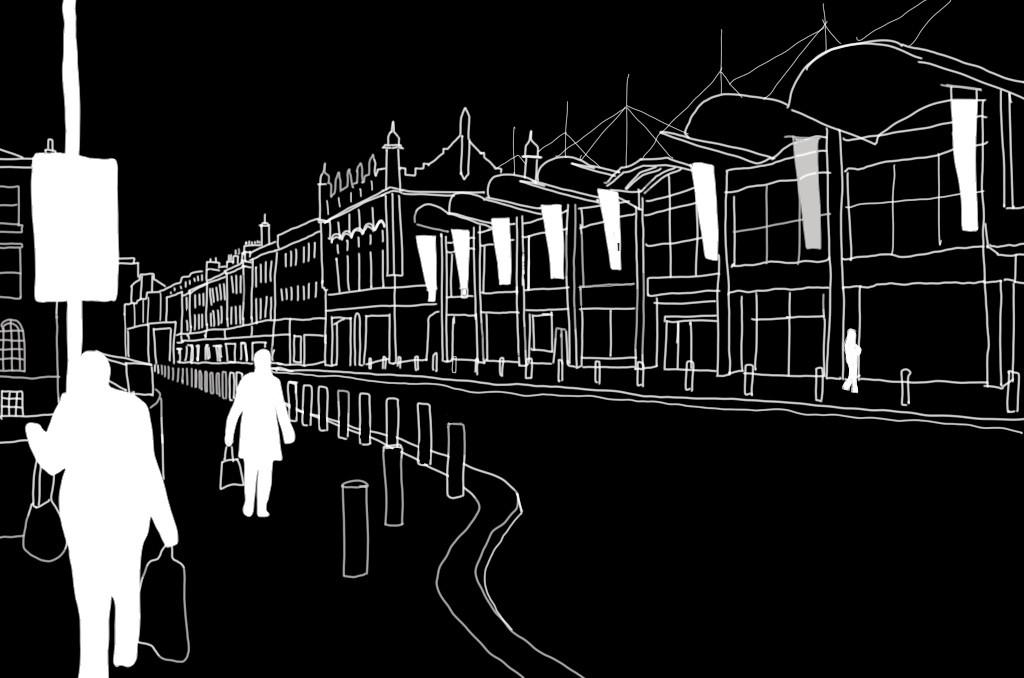 Digital Sketch   Aberdeen, Scotland - SEP 2020