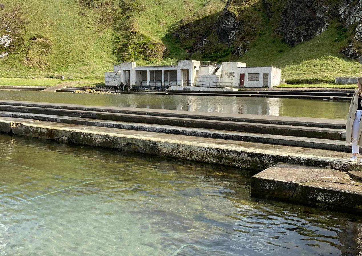 Tarlair Swimming Pool   Macduff, Scotland - JULY 2020