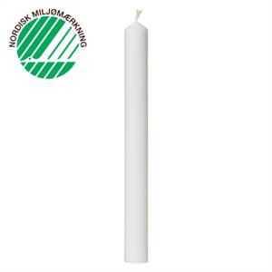 Festlys 3x30 cm hvid 100% ren stearin