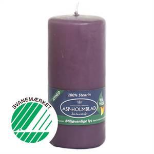 Miljøvenlige bloklys 5,8 x 13 cm  Vintage Violet - 100% stearin
