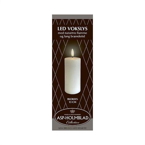 ASP-HOLMBLAD LED-Vokslys 5,8 x 13 cm White/Hvid i flot gaveæske