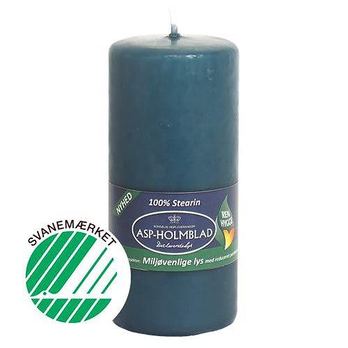 Miljøvenlige bloklys 5,8 x 13 cm  Ocean Blue - 100% stearin