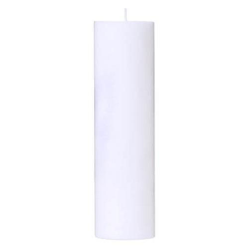 Bloklys 7x25 cm hvid 100% ren stearin