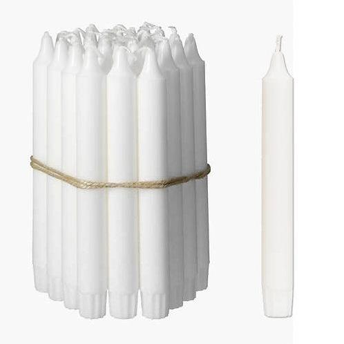Kronelys No. 57 2,2x17 cm 140 stk. Hvid 100% ren stearin
