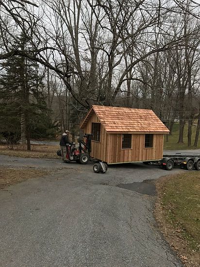 Foundation and delivery for custom garden house