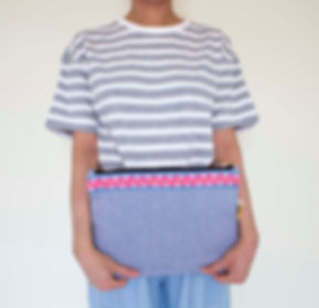 Festival Traveller, sonia b textiles, Large Zip Pouch, Made in London