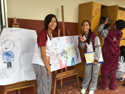 Javerianos de 8vo de Básica demuestran su creatividad en Exposición